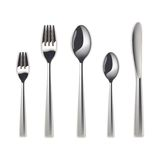 Cutlery set, isolated Royalty Free Stock Photos