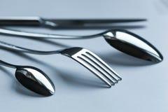 Cutlery set on light background Stock Photo