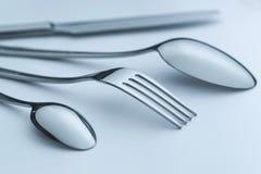 Cutlery set on light background Stock Photos