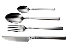 Free Cutlery Set-spoon, Fork, Knife, On White Background Isolated Stock Photo - 132065540