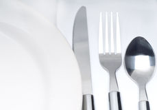 Cutlery set on a table Stock Images