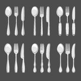 Cutlery set. Vector Stock Images
