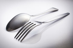 Cutlery Set With Fork And Spoon Royalty Free Stock Images