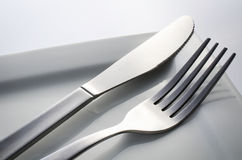 Cutlery Set With Fork, Knife Royalty Free Stock Images