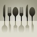 Cutlery shadow Stock Photography