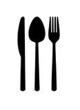 Cutlery - silhouette. Stock Photo