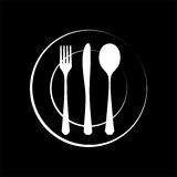 Cutlery silhouette Royalty Free Stock Images