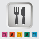 Cutlery single icon. Royalty Free Stock Photography