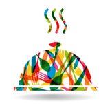Cutlery smakosza talerza kształt Zdjęcie Royalty Free