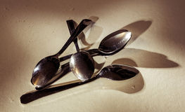 Cutlery spoons Royalty Free Stock Images