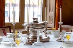 cutlery srebro horyzontalny luksusowy resturant Zdjęcia Stock