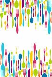 Cutlery sylwetki ikon tło Obraz Royalty Free
