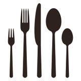 Cutlery symbols Royalty Free Stock Image