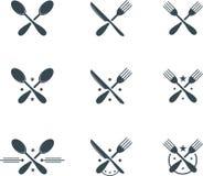 Cutlery symbols Stock Image