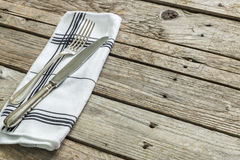 Cutlery on the table Stock Image
