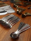 Cutlery table hand Royalty Free Stock Photo