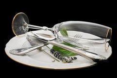 cutlery talerz Obrazy Stock