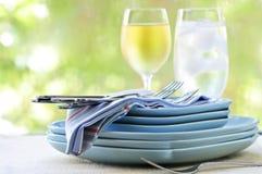 cutlery talerze Obrazy Royalty Free