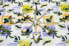 Cutlery to tablecloths Stock Image