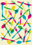 Cutlery transparency pattern background Stock Photos