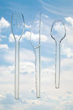 Cutlery transparent Stock Photography