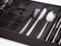 Cutlery Tray with new cutlery Stock Photos
