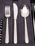 Cutlery Tray with new cutlery Stock Image