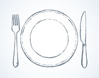 Cutlery. Vector drawing Royalty Free Stock Photography