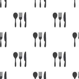 Cutlery, vector seamless pattern Royalty Free Stock Photo