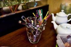 Cutlery w szkle zdjęcia royalty free