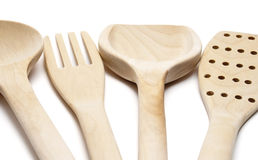 Cutlery wooden Stock Photos
