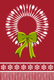 Cutlery wreath christmas background Stock Images