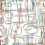 Cutlery wzór Obrazy Stock