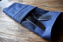 cutlery zawijający w pielusze Obraz Stock