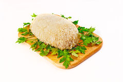 Cutlet breaded for roasting in an aero grill Royalty Free Stock Images