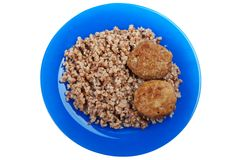 Cutlet buckwheat food Royalty Free Stock Image
