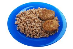 Cutlet buckwheat food Royalty Free Stock Photography