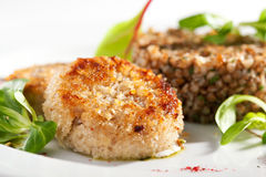 Cutlet with Buckwheat Stock Images