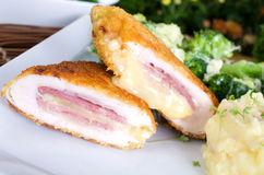 Cutlet Cordon Bleu Royalty Free Stock Photos