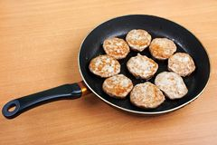 Cutlet food Royalty Free Stock Images