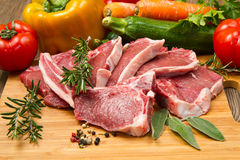 Cutlet of lamb. With vegetables Stock Photography