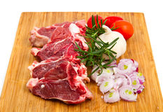 Cutlet of lamb with vegetables Stock Images