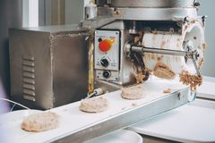 Cutlet making factory royalty free stock photo