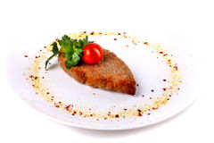 Cutlet with parsley Stock Photography