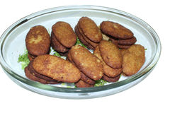 Cutlet Plate Stock Images