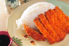 Cutlet pork rice royalty free stock photo