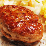 Cutlet  with  potato Stock Image