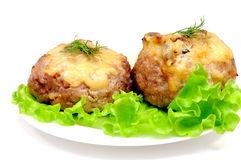 Cutlet stuffed with mushrooms.  Stock Photo