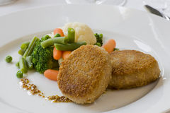Cutlet with vegetables Royalty Free Stock Photography