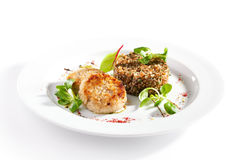 Free Cutlet With Buckwheat Stock Photos - 71134503